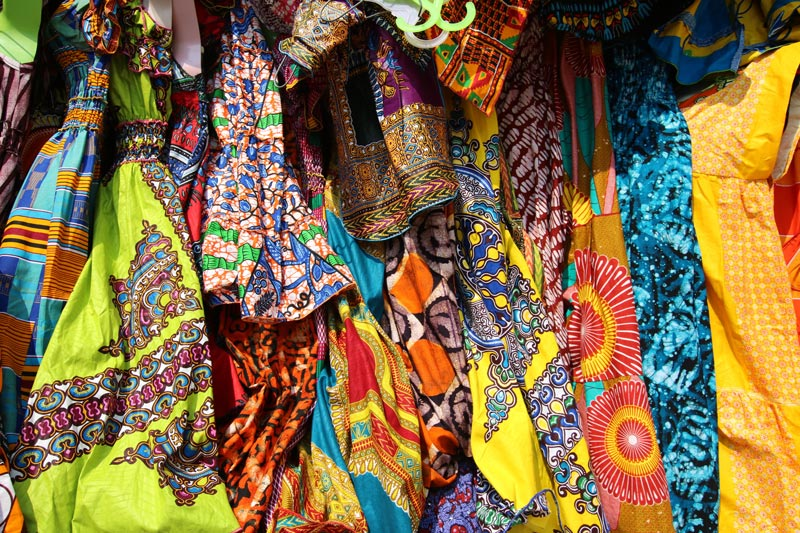 quilts made out of African prints